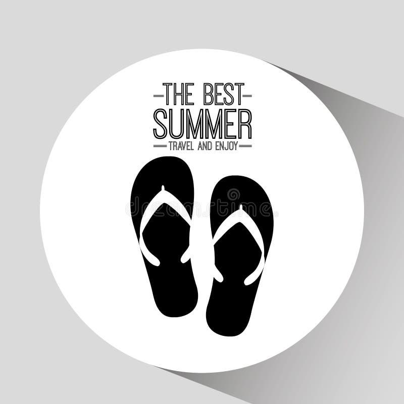Curso do verão do cartão dos falhanços de aleta o melhor e aprecia ilustração stock