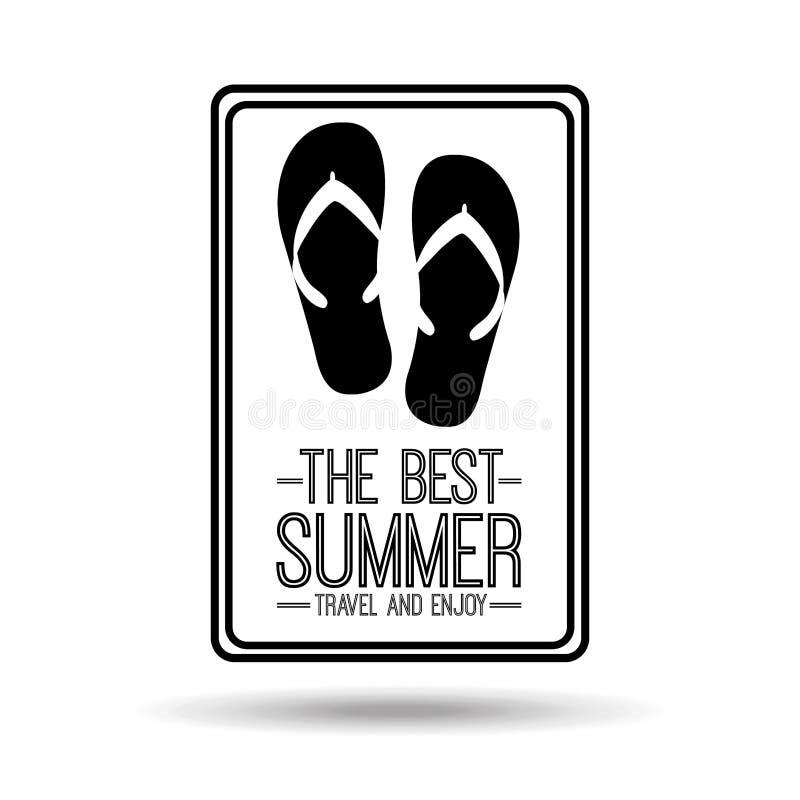 Curso do verão do cartão dos falhanços de aleta o melhor e aprecia ilustração royalty free