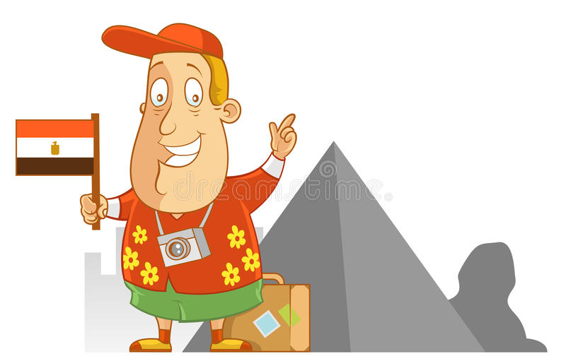 Curso a Egito ilustração royalty free