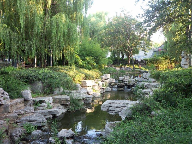 Curso em China, jardim do templo fotografia de stock