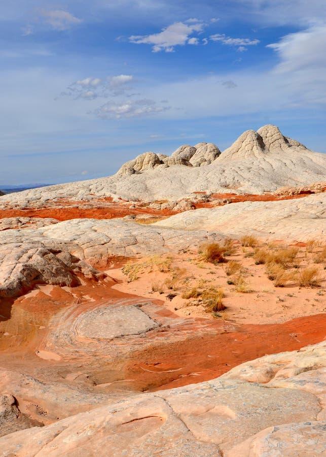 Curso em EUA Utá e Arizona ao monumento nacional dos bolsos brancos foto de stock royalty free