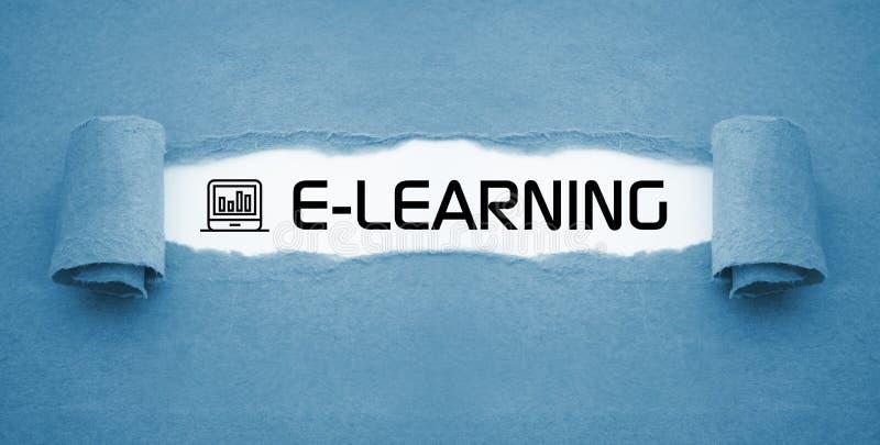 Curso em linha de aprendizagem em linha do ensino eletrónico foto de stock royalty free