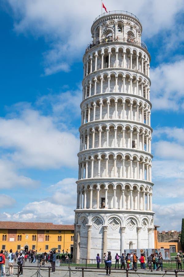 Curso Europa - a torre inclinada de Pisa, Itália imagem de stock