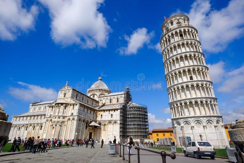 Curso Europa - a torre inclinada de Pisa, Itália imagens de stock royalty free