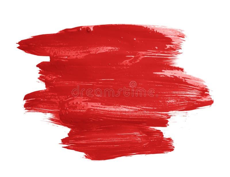 Curso feito à mão da escova de pintura do óleo fotografia de stock