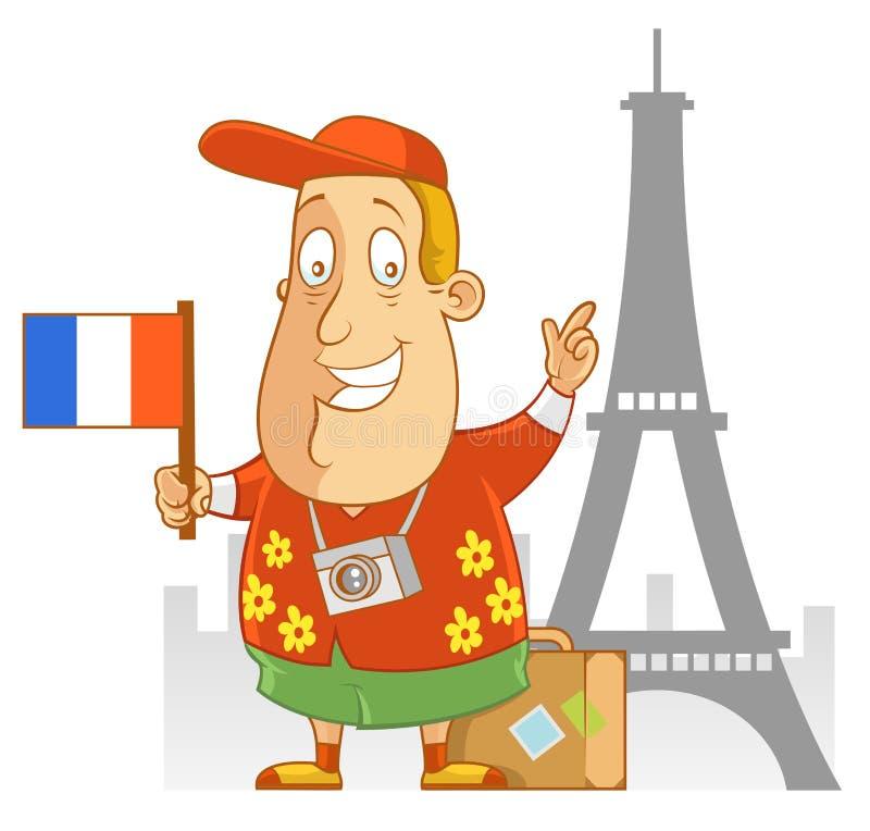 Curso a França ilustração do vetor