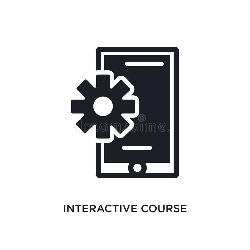 curso interativo ícone isolado ilustração simples do elemento dos ícones do conceito do ensino eletrónico e da educação curso int ilustração royalty free