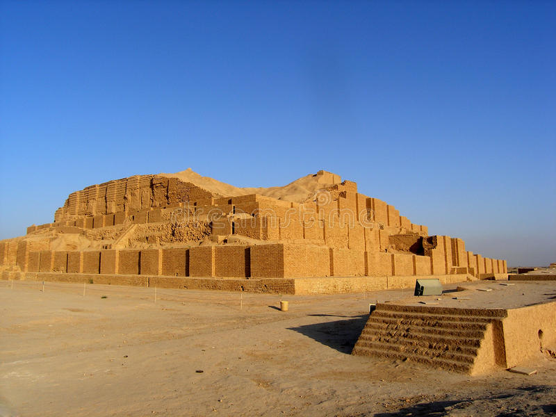 Curso Irã: ziggurat Choqa Zanbil fotos de stock