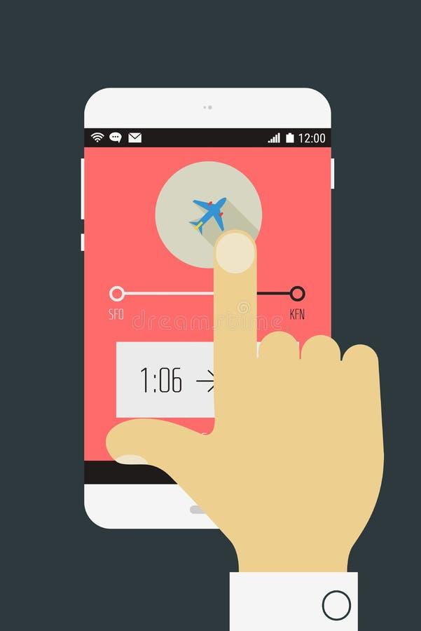 Curso móvel app ilustração royalty free
