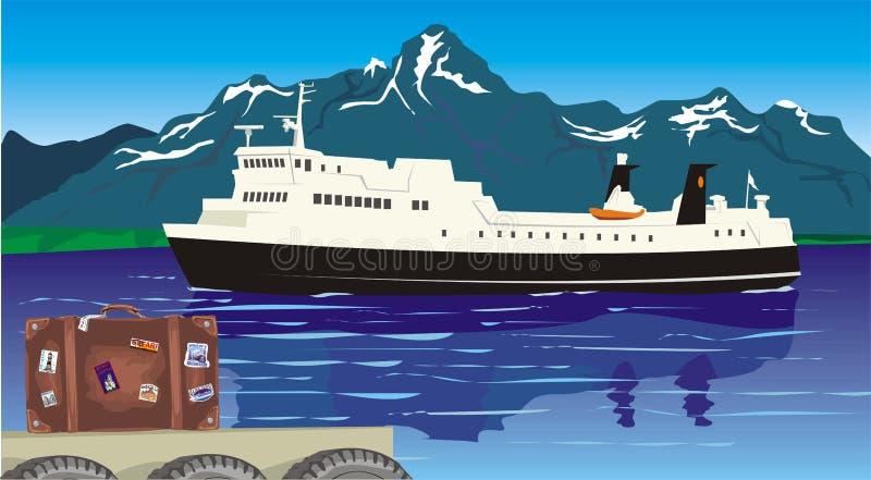 Curso - no porto ilustração stock