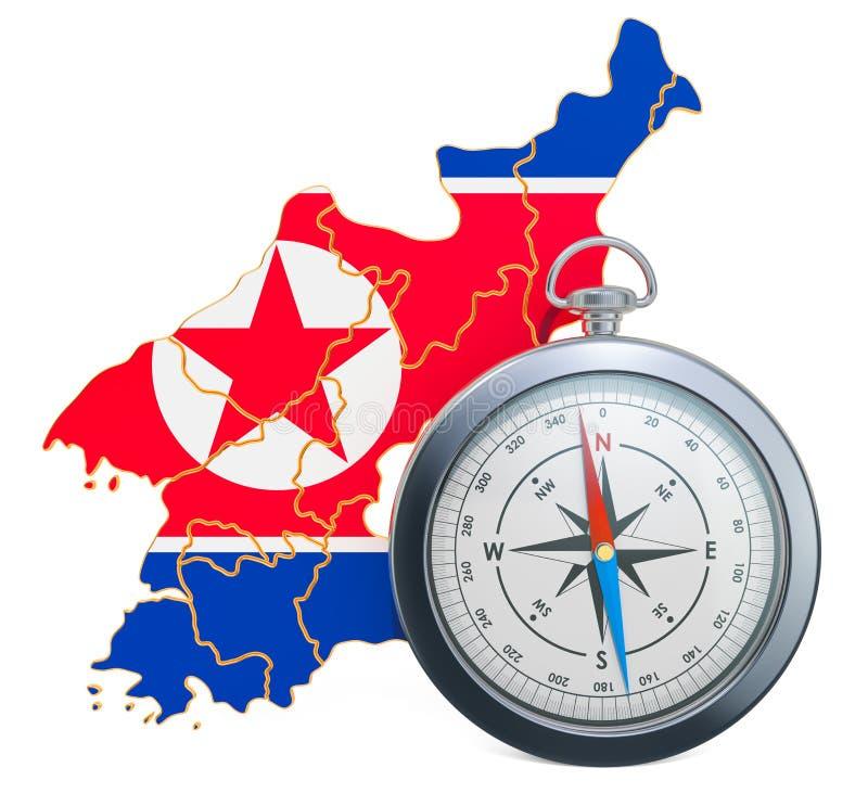 Curso ou turismo no conceito da Coreia do Norte rendi??o 3d ilustração royalty free