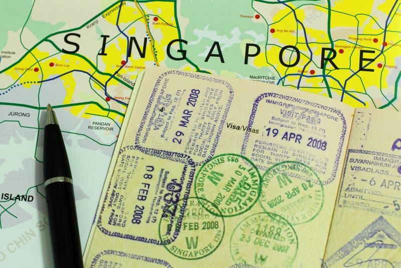 Curso a Singapore fotografia de stock royalty free