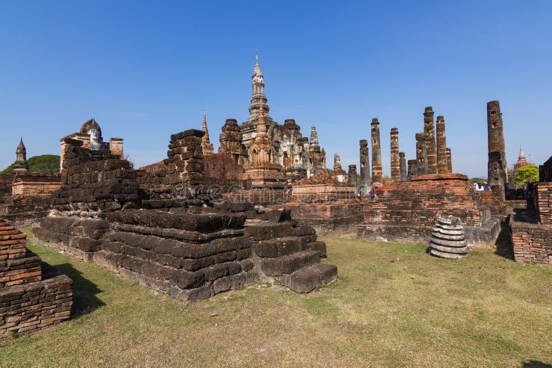 Curso - Sukhothai é um centro histórico de Tailândia foto de stock