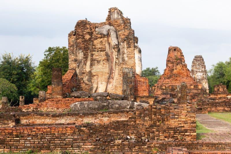 Curso Sukhothai Tailândia, capital antiga de Wat Mahathat de Sukhothai fotos de stock