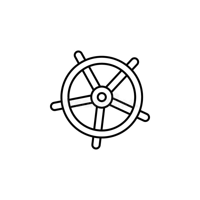 Curso, trole, ícone do esboço das malas de viagem Elemento da ilustração do curso Os sinais e o ícone dos símbolos podem ser usad ilustração royalty free
