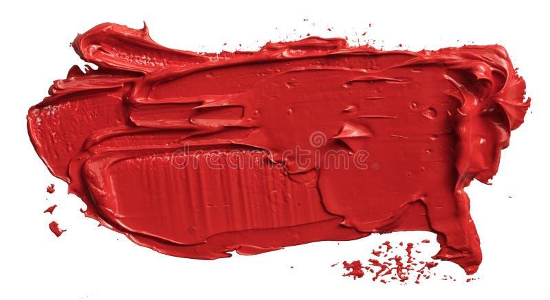 Curso vermelho da escova de pintura do óleo ilustração stock