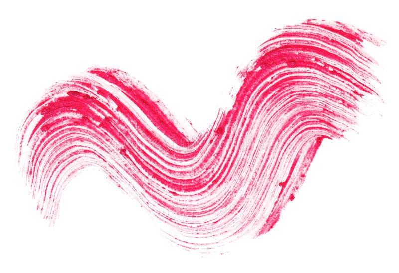 Curso vermelho do batom (amostra) fotos de stock