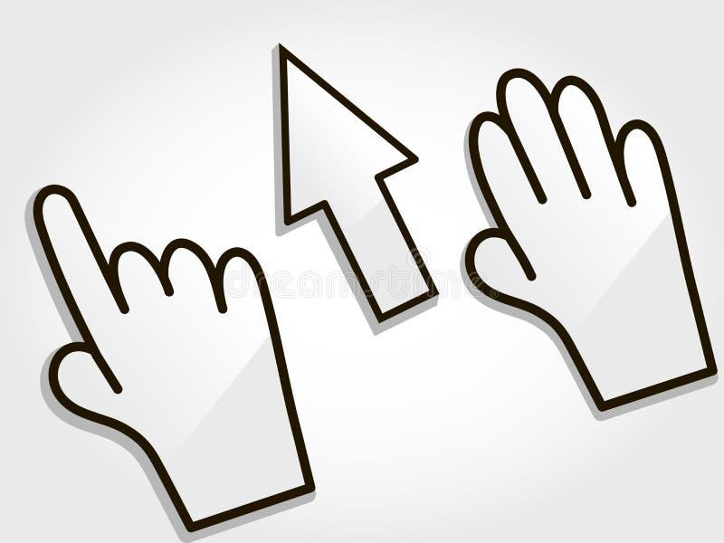 Download Cursor stock vector. Illustration of link, click, icon - 23699777