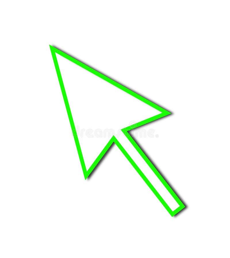 Download Cursor Arrow Mouse Green Line Stock Illustration - Image: 9905550