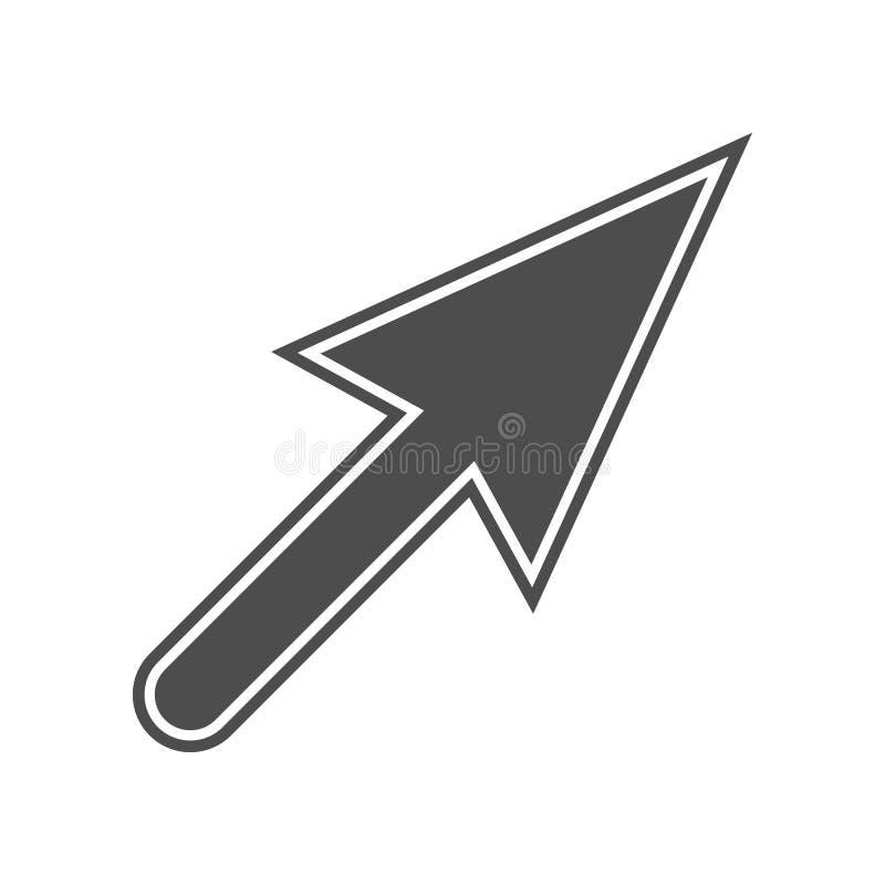 Cursor auf Browserikone Element von minimalistic f?r bewegliches Konzept und Netz Appsikone Glyph, flache Ikone f?r Websiteentwur lizenzfreie abbildung