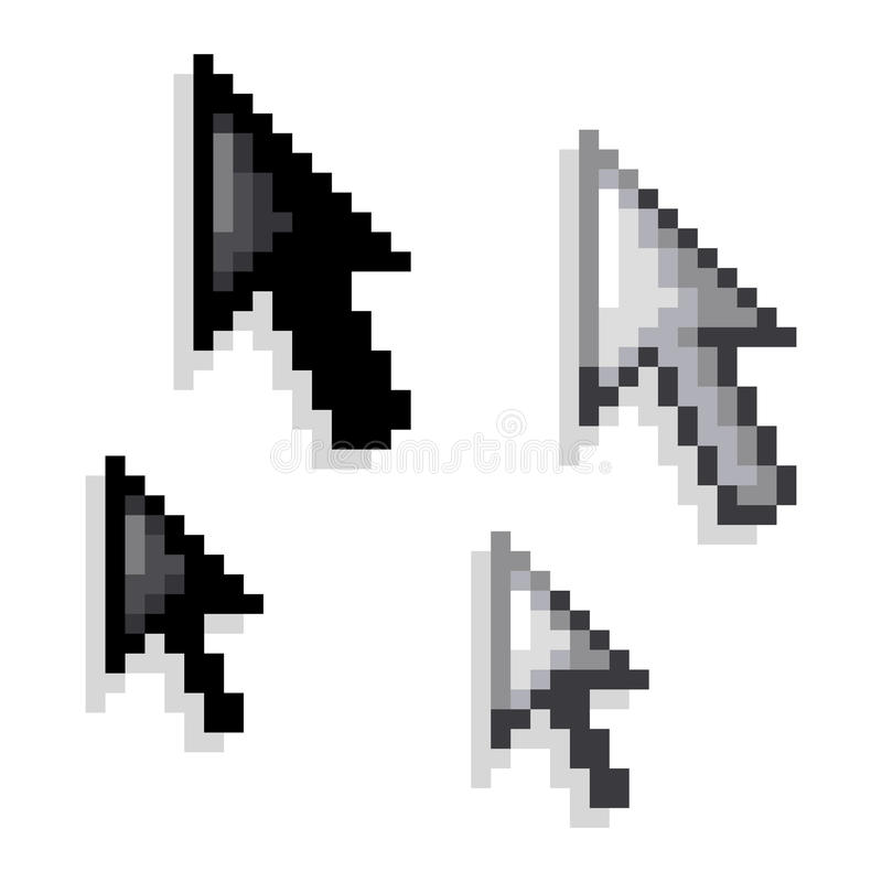 Free Cursor, Black And White Variations Royalty Free Stock Photos - 21719038