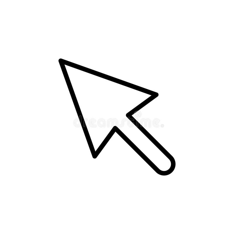 Cursor, click icon. Can be used for web, logo, mobile app, UI, UX. On white background stock illustration