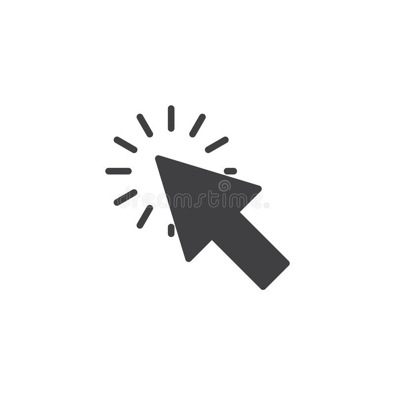 Cursor click vector icon. Filled flat sign for mobile concept and web design. Arrow click glyph icon. Symbol, logo illustration. Pixel perfect vector graphics vector illustration