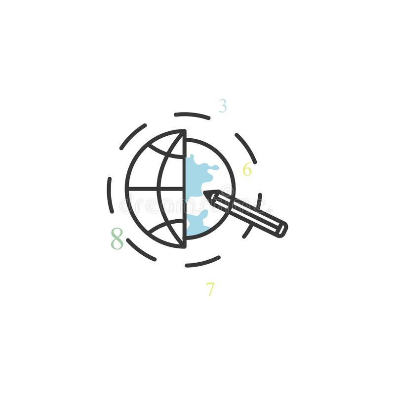 Cursor colored icon. Element of business for mobile concept and web apps icon. Thin line icon for website design and development, royalty free illustration
