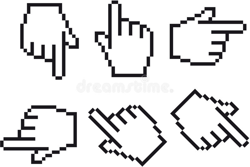 Cursor da mão ilustração stock