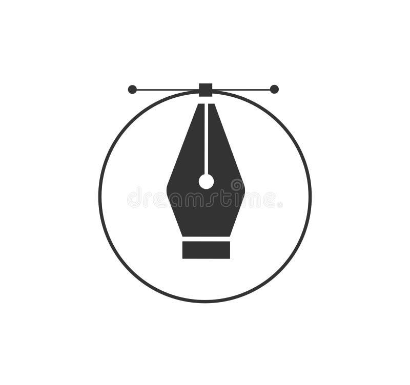 Cursor de la herramienta de la pluma Gráficos de ordenador de vector Logotipo para el diseñador o el ilustrador Icono del diseño  stock de ilustración
