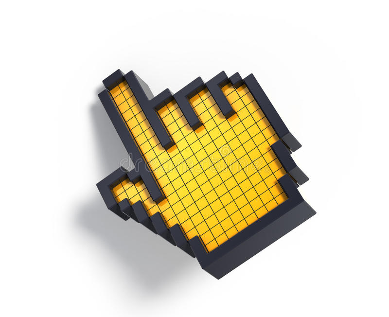 cursor de la mano 3d