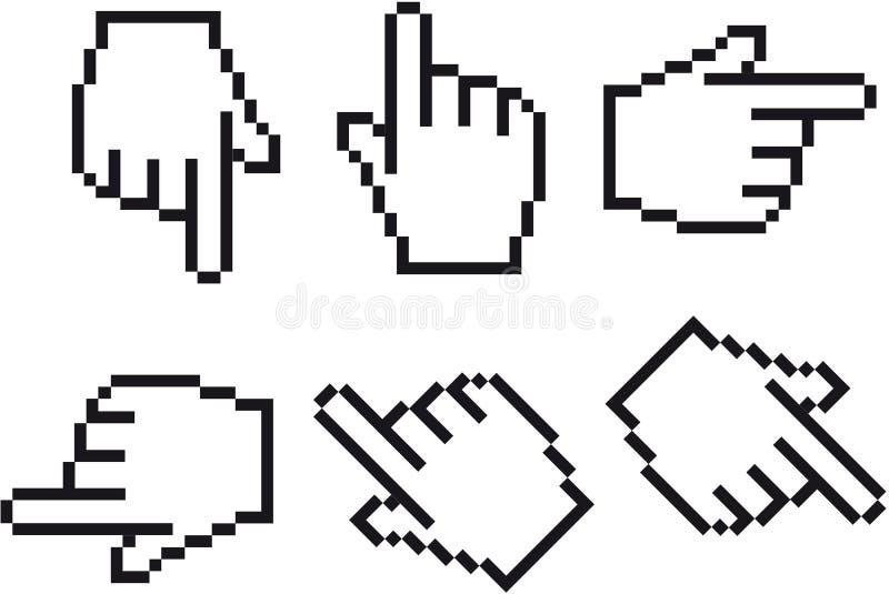 Cursor de la mano stock de ilustración