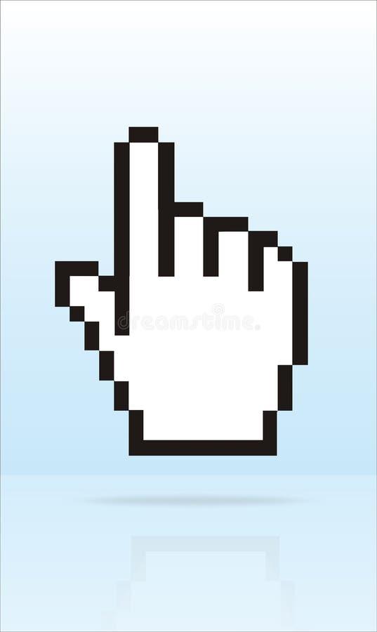 Cursor del dedo stock de ilustración
