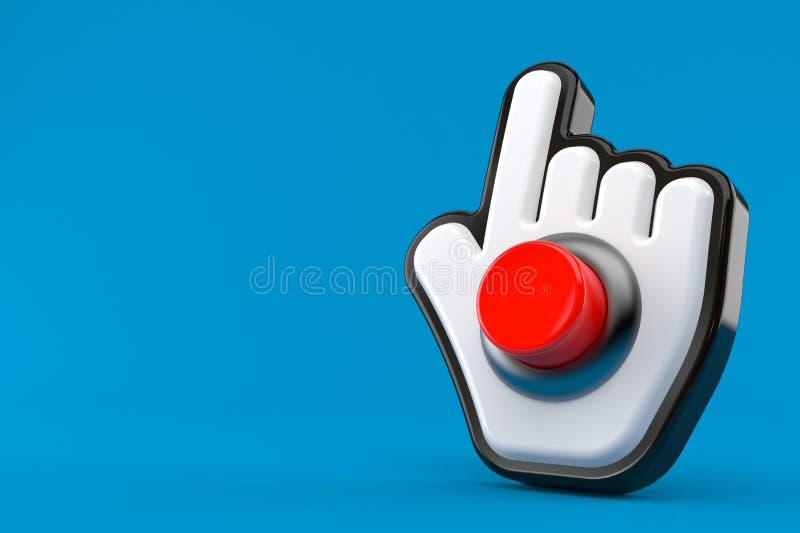 Cursor del web con el botón stock de ilustración