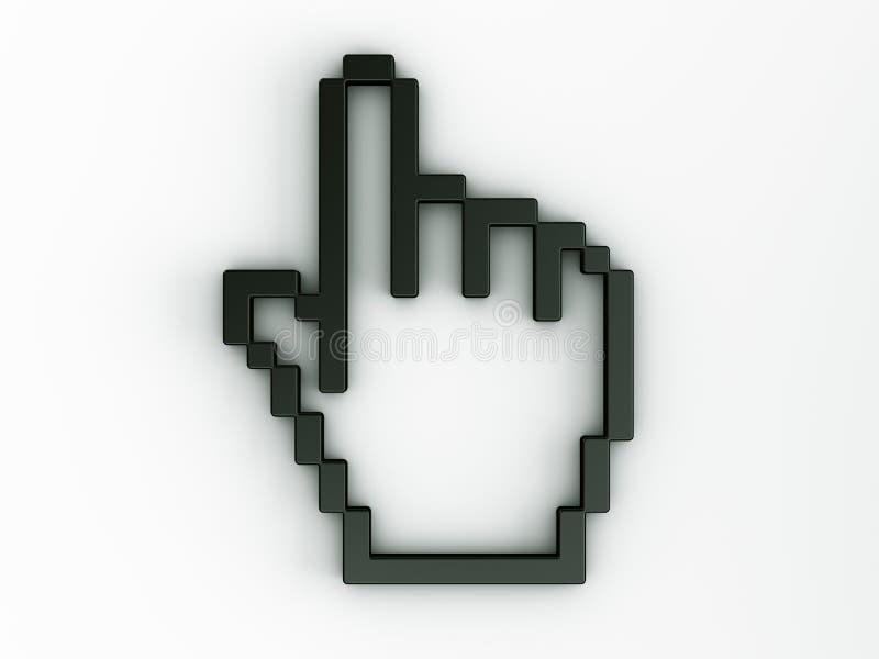 Cursor do rato da mão em 3d