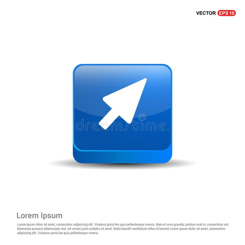 cursor icon - 3d Blue Button royalty free illustration