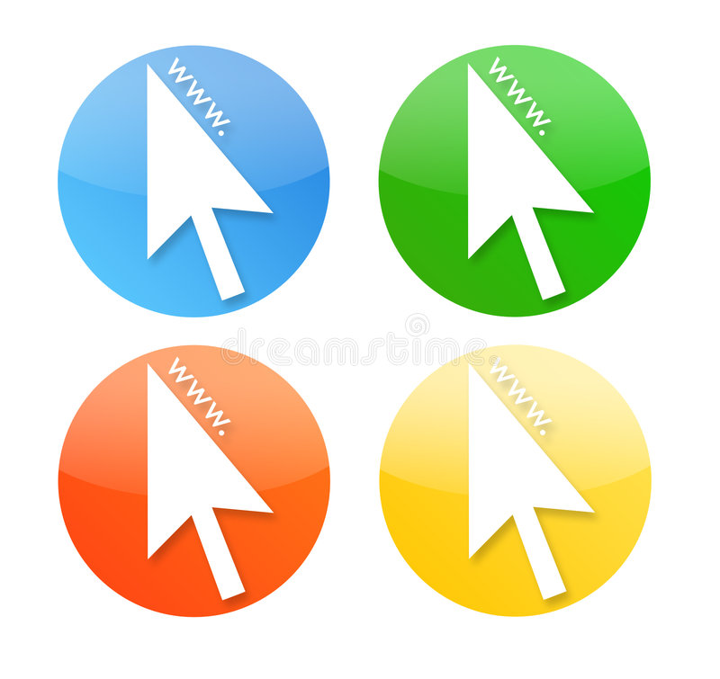 Download Cursor Icons With Www World Wide Web Royalty Free Stock Photography - Image: 4947837