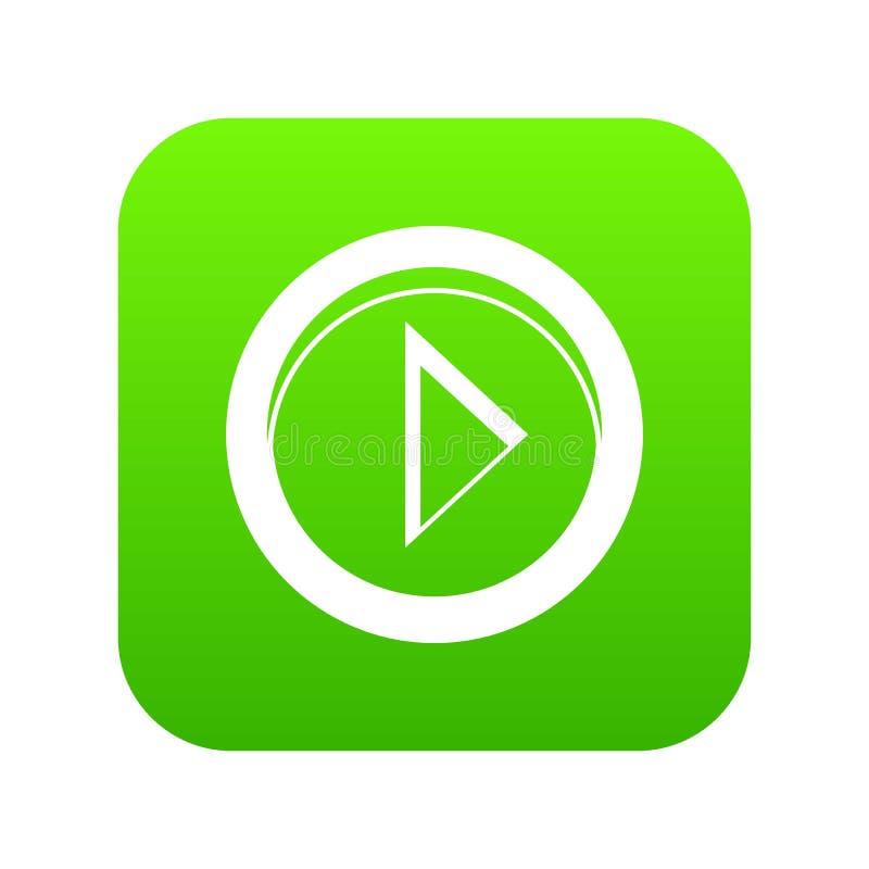 Cursor a la derecha en verde digital del icono del círculo stock de ilustración