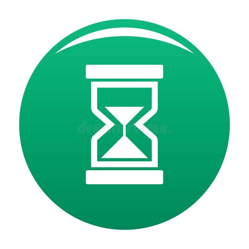 Cursor loading element icon vector green. Cursor loading element icon. Simple illustration of cursor loading element vector icon for any design green royalty free illustration