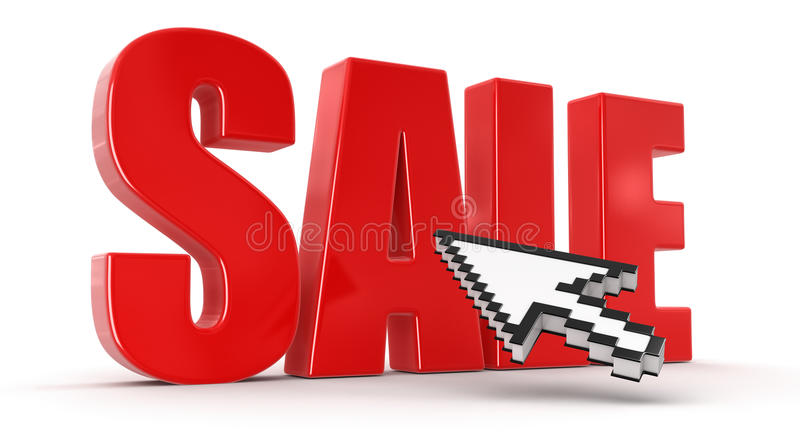 Download Cursor And Sale (clipping Path Included) Stock Illustration - Image: 34030371
