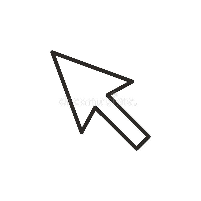 Cursor vector icon. Element of design tool for mobile concept and web apps vector. Thin line icon for website design and stock illustration