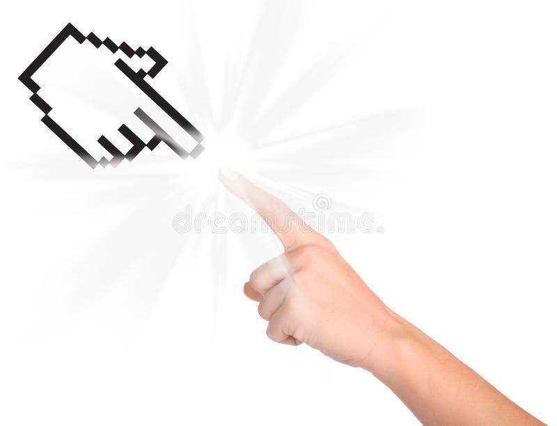 Cursor y mano del ordenador imagenes de archivo