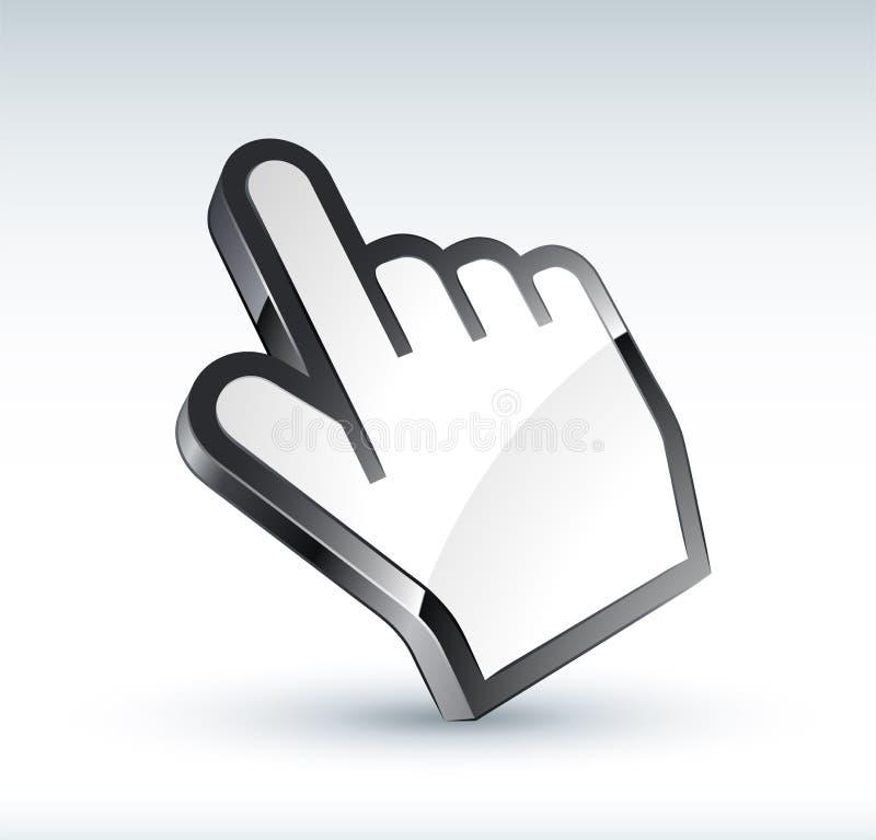 cursore della mano 3D illustrazione vettoriale
