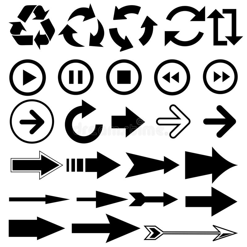 Cursores de los indicadores de flechas stock de ilustración
