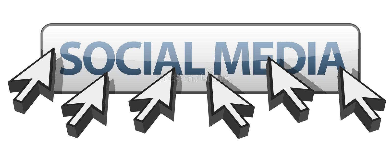 Cursori multipli intorno ai media sociali illustrazione vettoriale