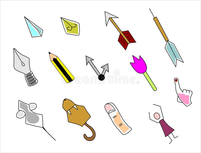 Download Cursors stock vector. Image of objects, index, illustration - 30837228