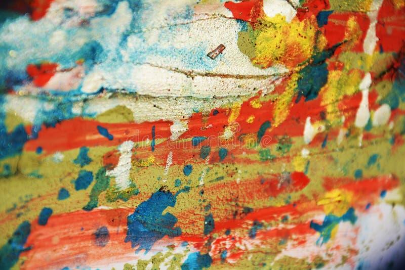 Cursos cerosos pasteis alaranjados verdes de prata do fundo e da escova dos pontos do vermelho azul, matiz, pontos imagens de stock royalty free