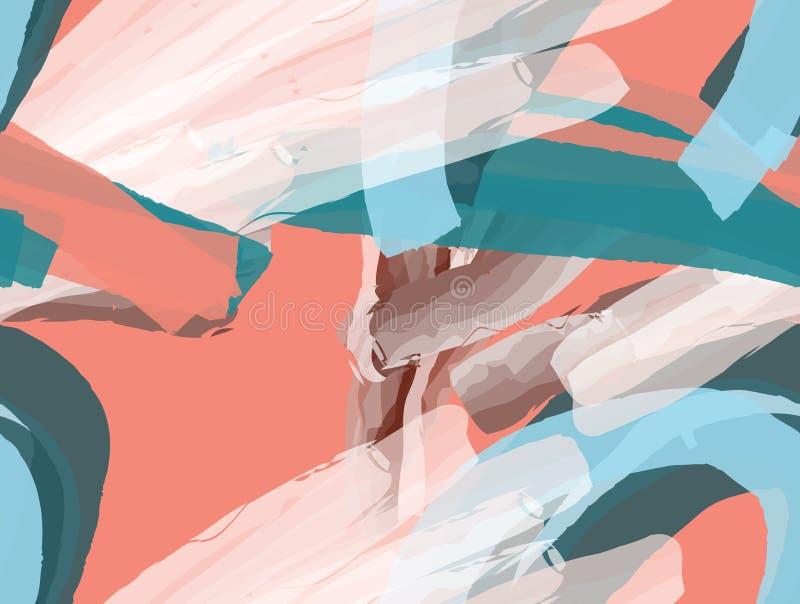 Cursos coloridos da escova da aguarela ilustração royalty free
