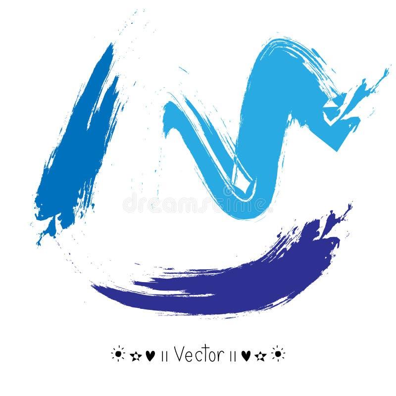 Cursos coloridos da escova da aquarela do vetor do vetor, ilustração EPS10 ilustração royalty free