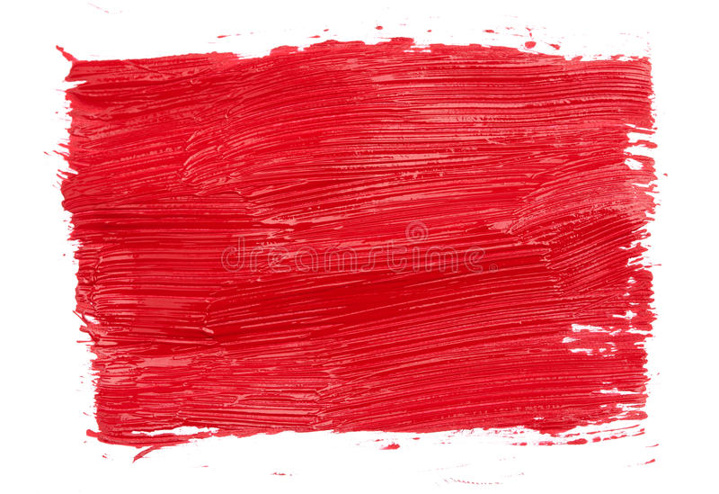 Cursos da pintura vermelha imagens de stock royalty free